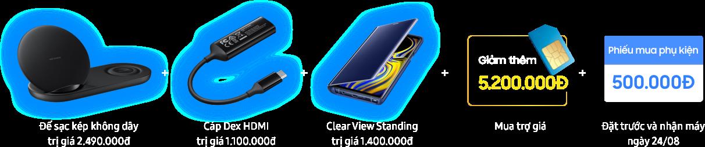Đặt mua Galaxy Note9 tại FPT Shop nhận bộ quà lên tới 15 triệu đồng 3