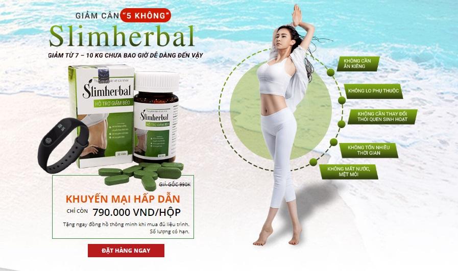 giảm cân 5 không với slim herbal
