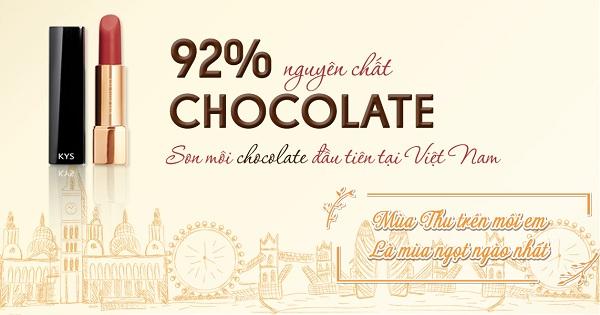 Son môi KYS – Thỏi son chocolate đầu tiên tại Việt Nam