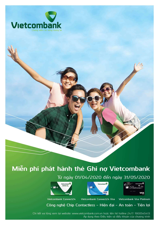 Vietcombank phát hành thẻ ghi nợ năm 2020 miễn phí 1