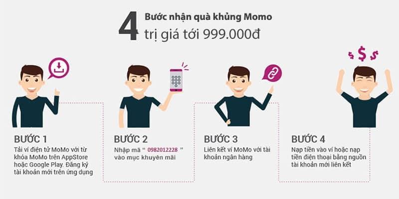 4 bước nhận quà MoMo