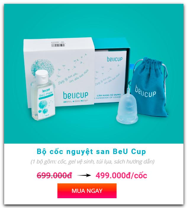 Cốc nguyệt san BeUcup giá bao nhiêu?