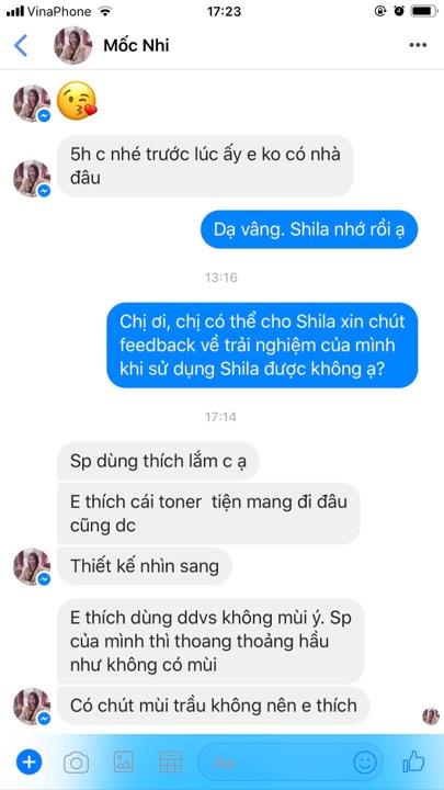 feedback của khách hàng khi sử dụng shila