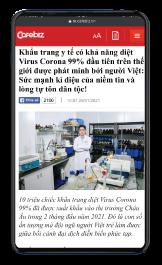báo cafeBiz đưa tin khẩu trang y tế wakamono