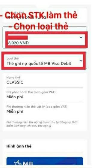Đăng kí phát hành thẻ MB Bank
