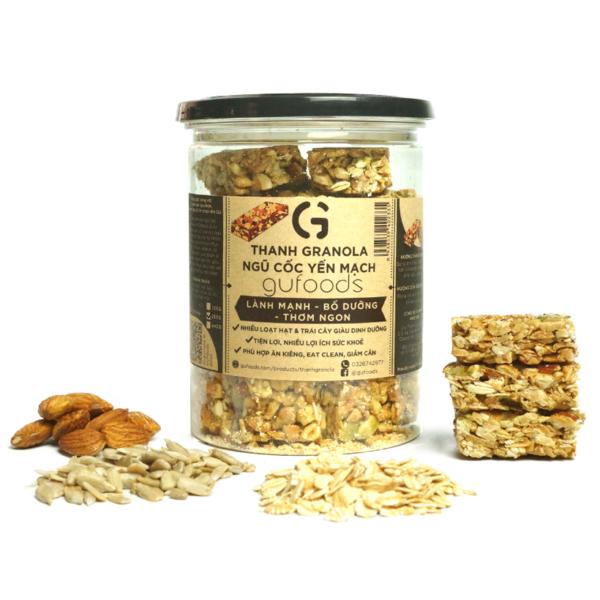 Thanh granola ngũ cốc yến mạch GUfoods (250g) 1