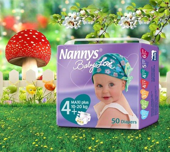 Tã dán Nannys Maxi L 50 (8-18kg) 50 Miếng/Bịch 5 1