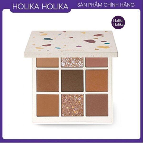 Bảng phấn mắt 9 ô Holika Holika Terrazzo Shadow Palette màu 01 Earthy 1,5gx9_15947 1