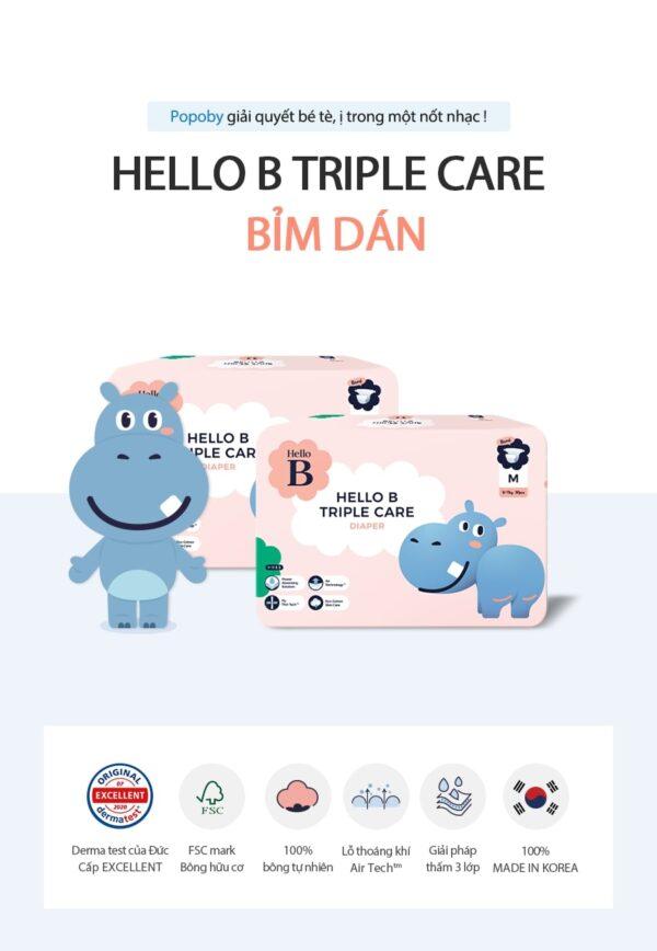 [4 BỊCH] Bỉm Dán Hello B Nội Địa Hàn Quốc S34/ M30/L26/XL24 - Lazimall 1