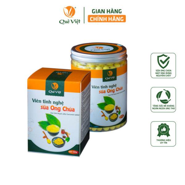 Viên Tinh Nghệ Sữa Ong Chúa Quê Việt 350gr 1