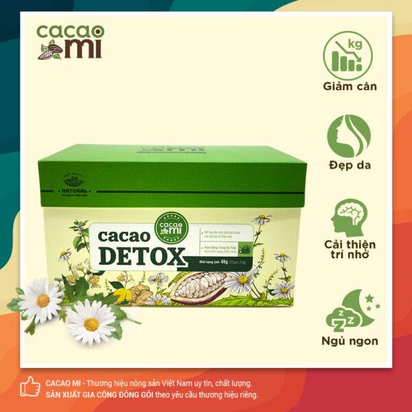 Cacao Detox CACAOMI thanh lọc cơ thể Hộp 20 gói 1