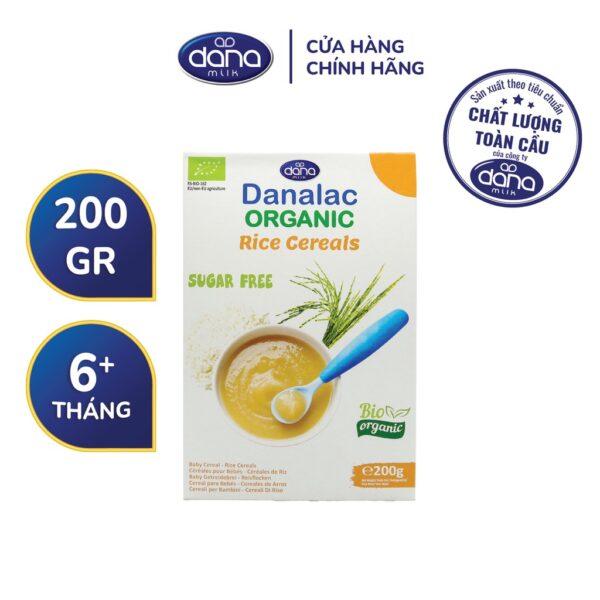 Bột Ăn Dặm DANALAC - Gạo Hữu Cơ - Hộp 200g 1