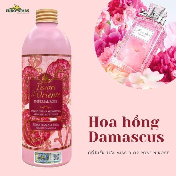 Sữa tắm nước hoa Damascus Tesori D'Oriente 500ml 1