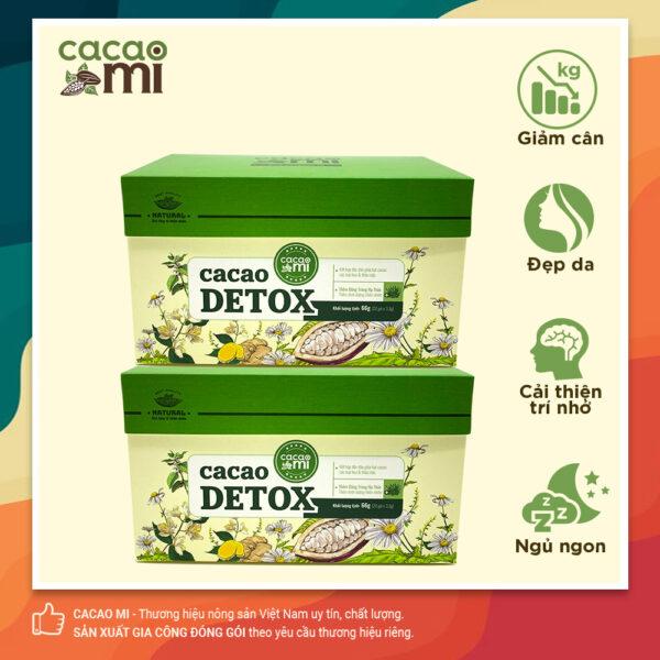 Combo 2 hộp Cacao Detox CACAOMI thanh lọc cơ thể 20 gói/hộp 1