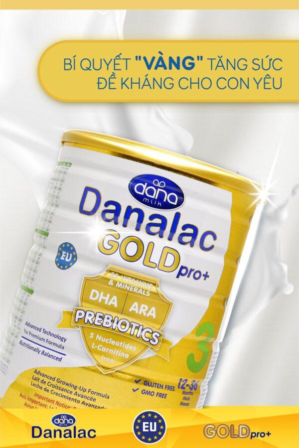 Sữa Bột DANALAC GOLD Pro+ 3 - Hộp 800g 1