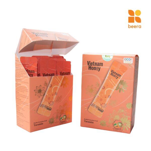 [BEERA] Mật Ong Tinh Nghệ Sữa Chúa Tacumin Dạng Hộp 12 gói (15g x12) - Vietnam Honey 1