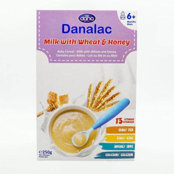Bột Ăn Dặm DANALAC Vị Sữa, Lúa Mì và Mật Ong - Hộp 250g 1