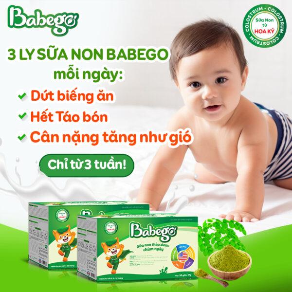 Combo 2 hộp Sữa non thảo dược chùm ngây Babego 1