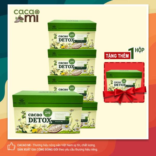 Combo 5 hộp Cacao Detox CACAOMI thanh lọc cơ thể 20 gói /hộp- TẶNG 1 hộp 20 gói 1