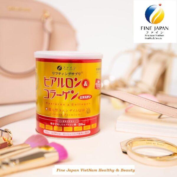 Bột uống Collagen & Hyaluron Q10 Fine Japan 1