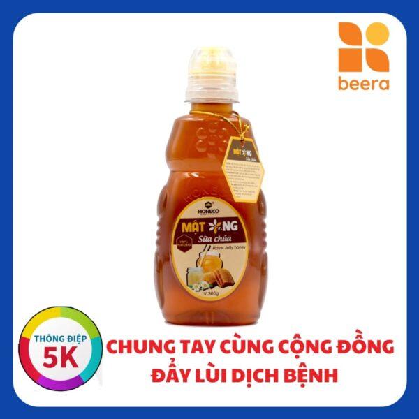 [BEERA] Mật Ong Sữa Ong Chúa 360g - Honeco 1