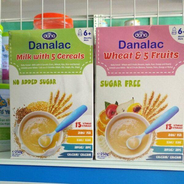 Bột Ăn Dặm DANALAC Vị Sữa Và 5 Loại Ngũ Cốc - Hộp 250g 1