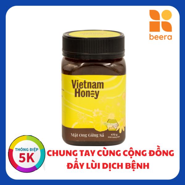 [BEERA] Mật Ong Gừng Sả 470g - Vietnam Honey 1