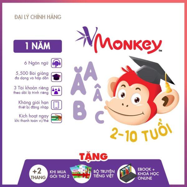 VMonkey - Học tiếng Việt theo Chương trình GDPT Mới cho trẻ Mầm non & Tiểu học (Gói trọn đời) 1