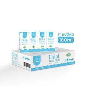 Sữa tươi trùng VPMilk UTH Đà Lạt True Milk 180ml - Ít đường- Thùng 48 hộp 1