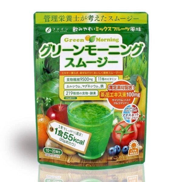 Bột rau xanh Green Morning Fine Japan 1