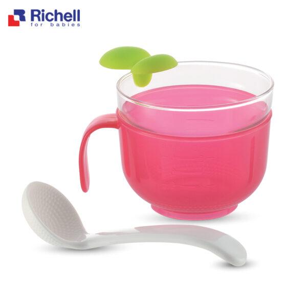 Bộ Nấu Cháo/Cơm Nát Trong Nồi Cơm Điện( Màu Hồng) Richell 1