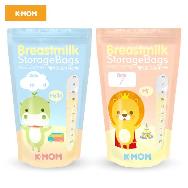 Túi Trữ Sữa K-mom Hàn Quốc 200ml (100c) 1