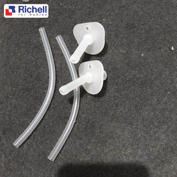 Bộ 2 Ống Hút Thay Thế Cho Cốc Tập Uống 3 Giai Đoạn Richell 1