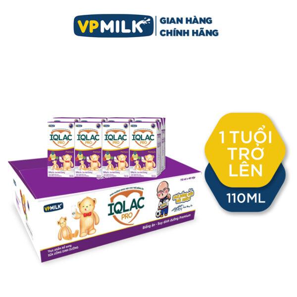 Sữa uống dinh dưỡng IQLac Pro Biếng Ăn Suy Dinh Dưỡng - Premium 110ml - Thùng 48 hộp 1