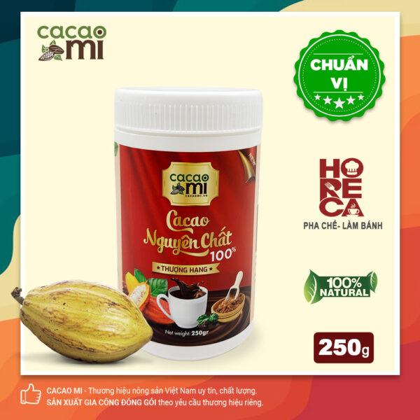 Bột cacao nguyên chất hoà tan CACAOMI - hũ 250g 1