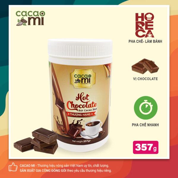 Bột socola Hot Chocolate hòa tan CACAOMI - hộp 357g 1