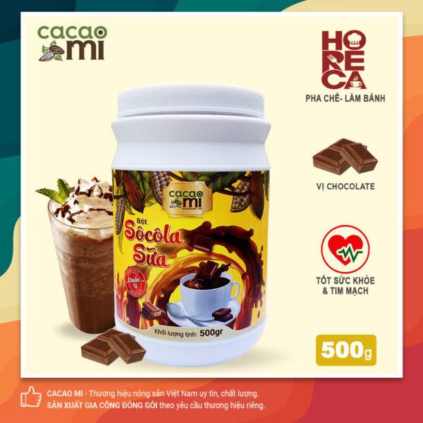 Bột socola sữa CacaoMi HORECA thơm vị cacao 500g 1