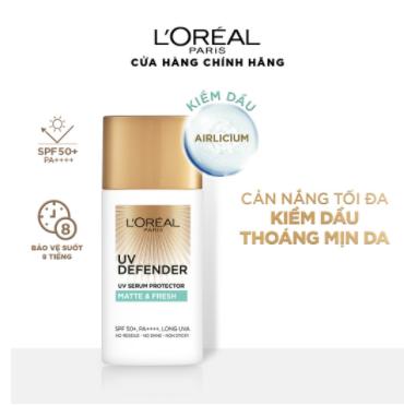 Kem chống nắng mịn nhẹ bảo vệ da chống lão hóa L'Oreal Paris UV Defender 50ml (Matte & Fresh - Kiềm dầu thoáng mịn) 1