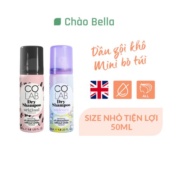 COLAB DRY SHAMPOO UNICORN mini size Dầu Gội Khô Colab Hương Cổ Tích Nhiệm Màu size mini 50ml 1
