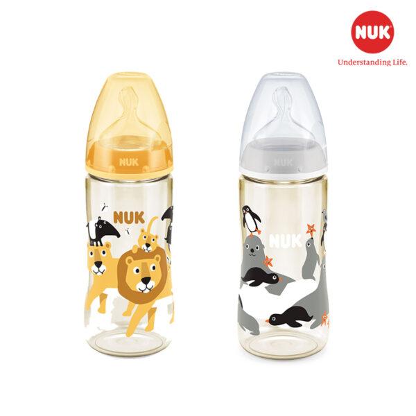 Bình Sữa NUK PPSU 300ml Núm Ti Silicone S2 (Animals) 1