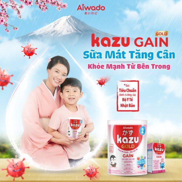 [AIWADO] Sữa mát tăng cân Kazu Gain Gold 1+ 350g (12 - 24 tháng) 1