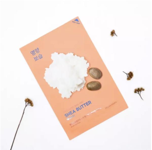 Set 10 mặt nạ giấy Holika Holika chiết xuất bơ hạt mỡ Pure Essence Mask sheet 23ml x 10_Shea Butter 68135O 1