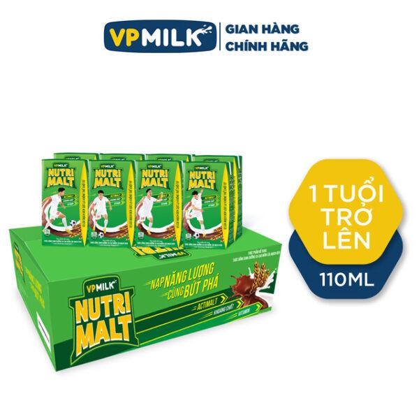 Thức uống dinh dưỡng ca cao mầm lúa mạch đen VPMilk Nutrimalt 110ml - Thùng 48 hộp 1