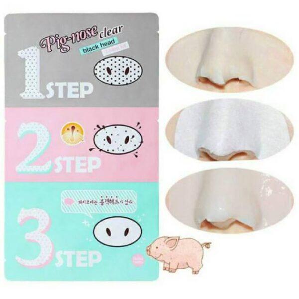 Bộ lột mụn đầu đen 3 bước Holika Holika Pig Nose Clear Black Head Strong 4g_11696 (Gói màu đen) 1