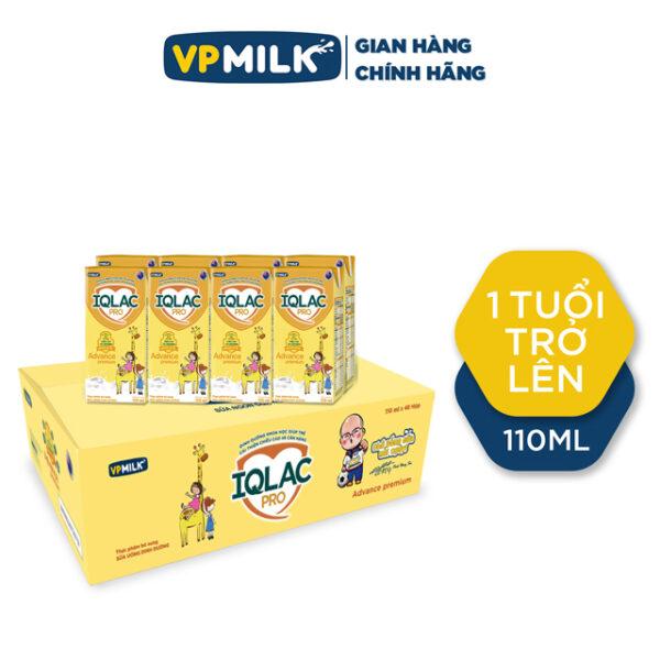 Sữa uống dinh dưỡng IQLac Pro Advance - Premium 110ml - Thùng 48 hộp 1