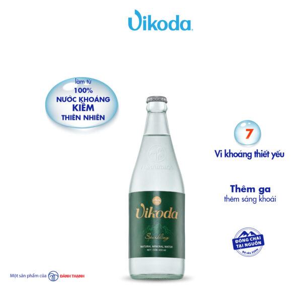 Nước Khoáng Thiên Nhiên Vikoda Có Gas Chai Thủy Tinh 430ml 1