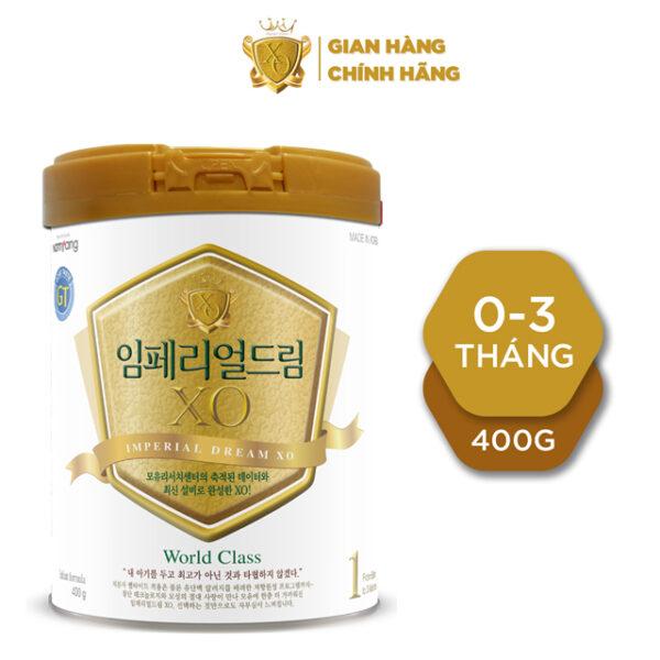 Sữa bột XO1 GT - 400g Dành cho trẻ từ 0 đến 3 tháng tuổi 1