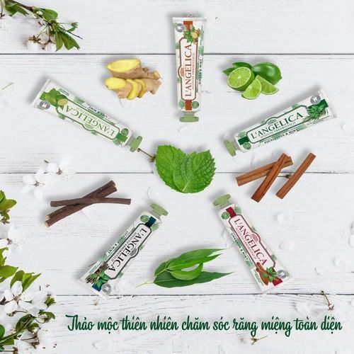 Kem Đánh Răng Thảo Dược Tự Nhiên Hương Quế Và Bạc Hà L'angelica Toothpaste Mint and Cinnamon 75ml 1