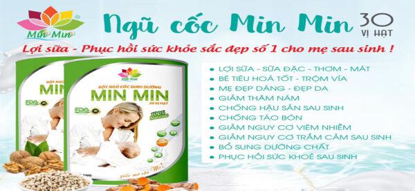 Combo 2 hộp Ngũ cốc lợi sữa MinMin (2 hộp/ mỗi hộp 500g) 1