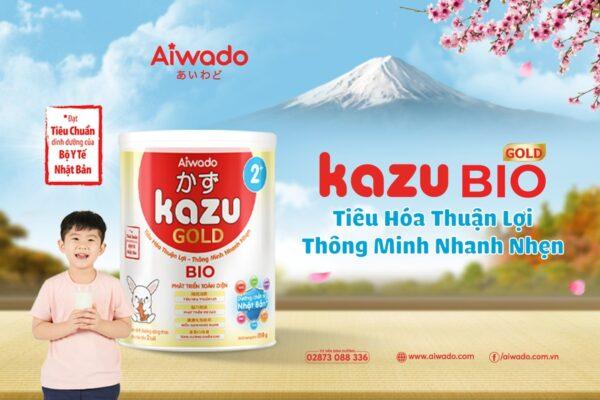 [AIWADO] Sữa bột Kazu Bio Gold 2+ 810g (từ 24 tháng trở lên) 1